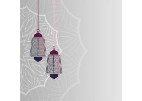 伊斯兰灯具装饰背景_4604222