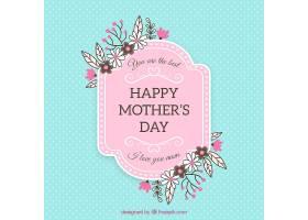 伟大的母亲节背景有鲜花和圆点_1085703