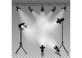 为表演比赛或面试聚焦逼真的透明背景_2869404