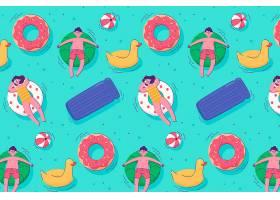 五颜六色的夏日图案图解_9320279
