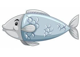一个简单的鱼卡通形象_4428773