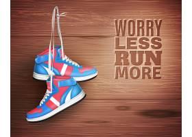 一双木质背景的皮鞋_4279312