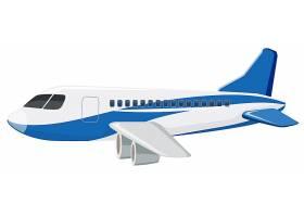 一架白色背景的商用飞机_3919370