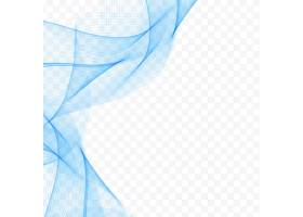 蓝色波浪形背景_1201033