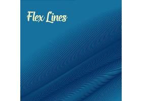 蓝色波浪线背景_6538782