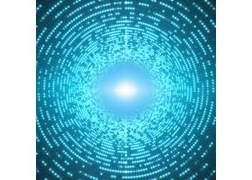 蓝色背景上闪耀着耀眼耀斑的无限圆形隧道_5575870