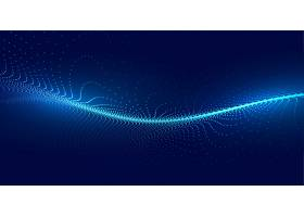 蓝色科技粒子波光背景_5188481