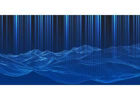 线框景观设计的现代科技背景_8438396