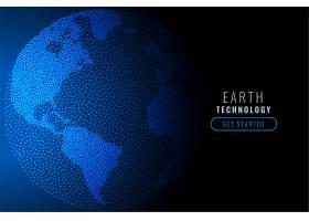 用科技蓝色粒子打造的数字地球_9406127