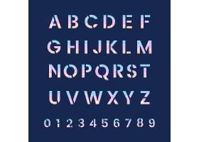 字母和数字系统向量_3790765
