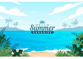 平坦的夏季背景设计_8300074