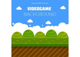 平板式灌木丛的电子游戏背景_949534