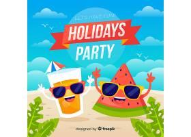 平淡的热带夏日派对背景_5137161
