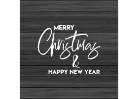 圣诞快乐和新年快乐木质背景_3391293