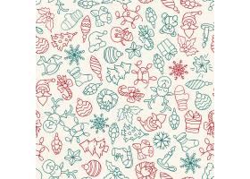 圣诞快乐新年快乐图案与图标天衣无缝_3330423