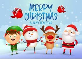 圣诞快乐新年快乐横幅设计_5585188