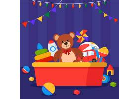 圣诞玩具平面设计背景_6008741