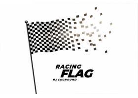 赛车格子旗背景_6918275