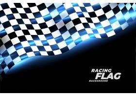 赛车格子旗运动背景_6918281