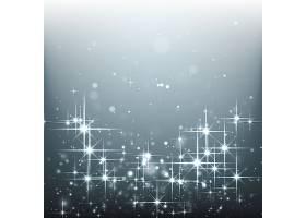 银色背景上明亮的星星_827762