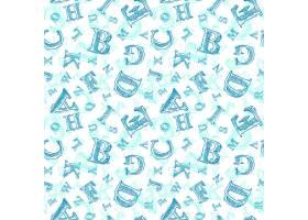 蓝色字母图案_1012402
