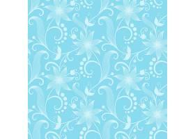 矢量花卉无缝图案背景背景纹理优雅古典_1283344