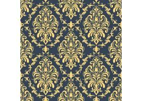 矢量锦缎无缝图案背景古典奢华的老式锦缎_1283582