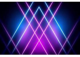 深色背景上的紫罗兰色和蓝色霓虹灯_10178477