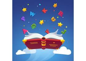 神奇的书飞散字母表字母_1311577