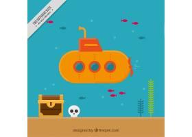 潜艇平面设计背景_888232