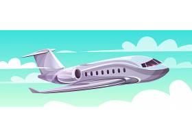 空中飞行的飞机为旅行社制作的卡通现代云端_3266702