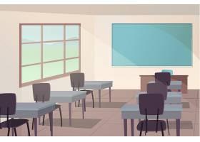 空荡荡的学校班级视频会议的背景_10398700