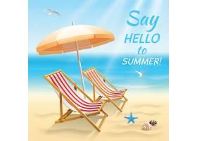 暑假海滩背景与夏季墙纸打招呼上面有太阳_4526593