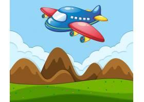 有飞机的平坦地貌_3577560