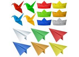 有鸟和飞机的折纸工艺品_1250784