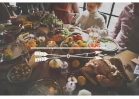 图标感恩节家庭晚餐盛宴_3532746