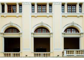 泰国曼谷殖民地风格的外立面和窗户_4690250