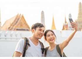 亚洲博客夫妇在泰国曼谷旅行_4395020