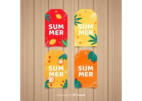 五颜六色的夏季促销标签集_4622100