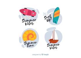 五颜六色的夏季促销标签集_4622102