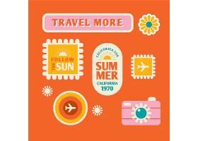 70年代风格的旅游贴纸收藏_6639195