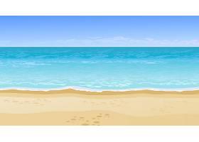 逼真美丽的海景暑假概念_2438179