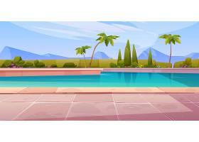 酒店或度假村室外游泳池夏季开放_7588864