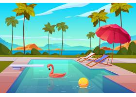 酒店或度假村的室外游泳池_5467403