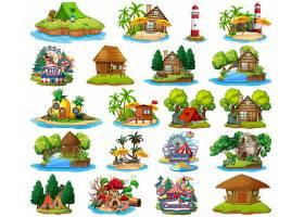 集不同风格的沙滩主题和海岛沙滩主题游乐园_10138913