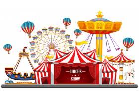 马戏团活动设有帐篷摩天轮游乐设施门_5290953