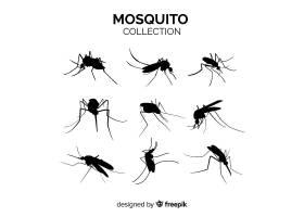 蚊子剪影九人包_3138780