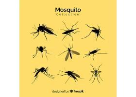 蚊子剪影套装一套九只_3138794