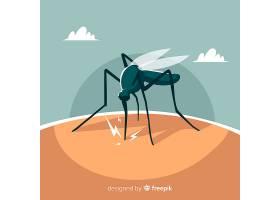 蚊子叮咬扁平设计的人_3076213