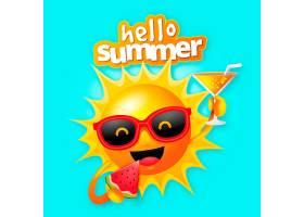 现实的你好夏天有阳光和鸡尾酒_7890284